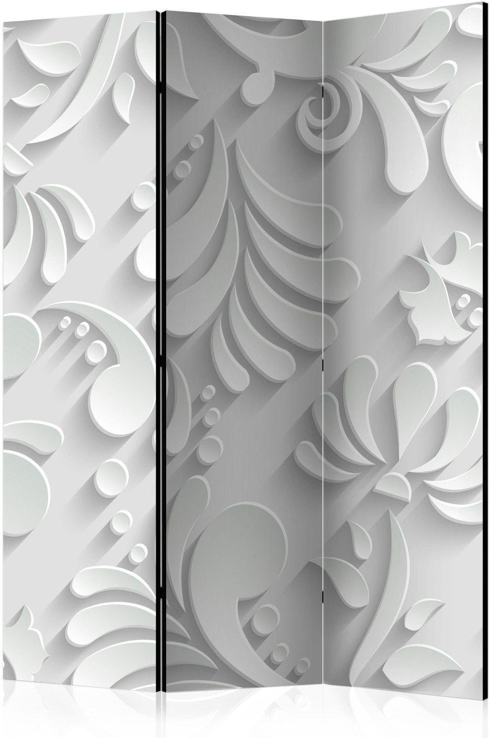 Parawan 3-częściowy - parawan: motyw roślinny
