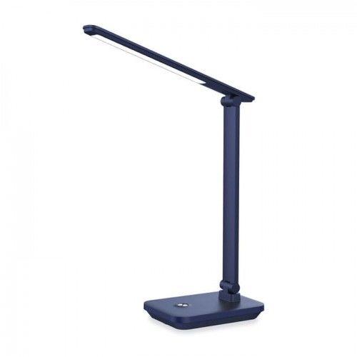 Lampka biurkowa LED 5W dzienna ściemnialna z akumulatorem - ciemnoniebieska