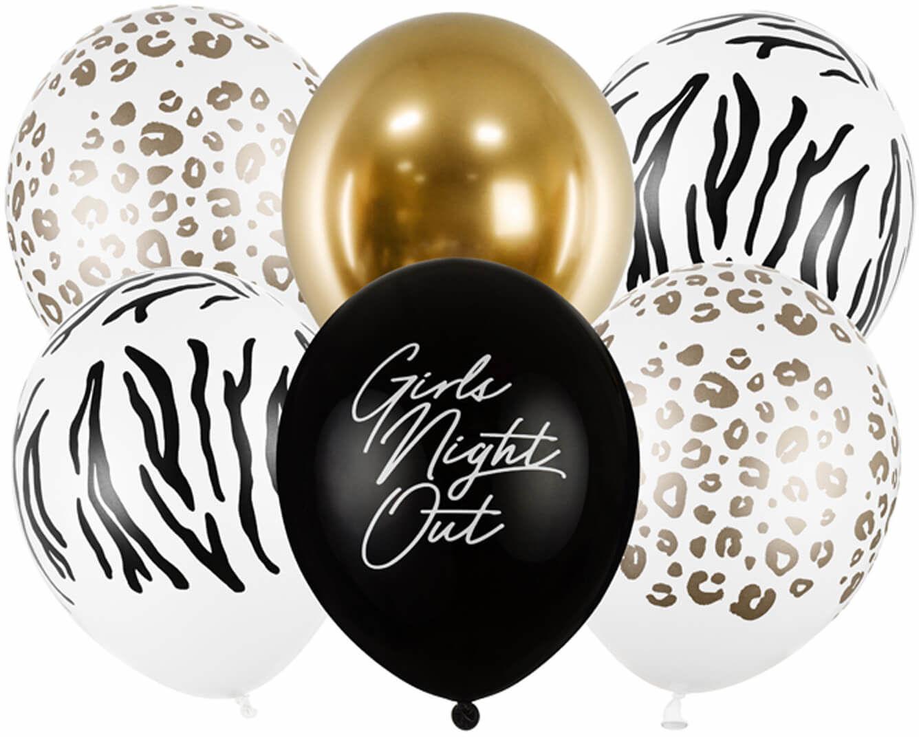 Zestaw balonów Girls Night Out na wieczór panieński - 30 cm - 6 szt.