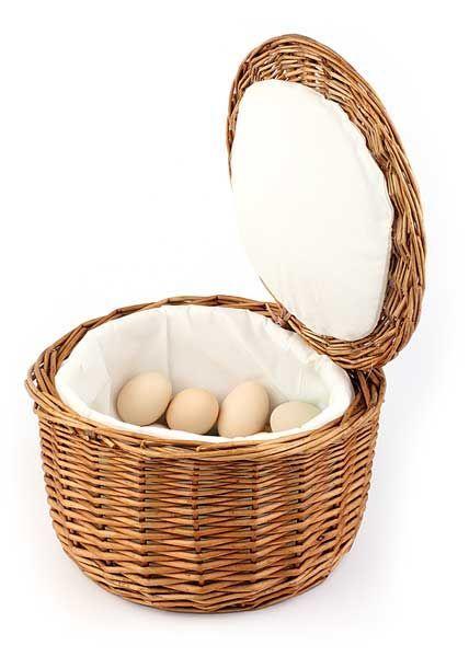 Termiczny koszyk wiklinowy na jajka śr. 260x(H)170mm
