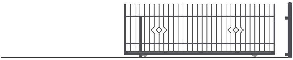 Brama przesuwna bez przeciwwagi LILA 400 x 152 cm lewa POLARGOS