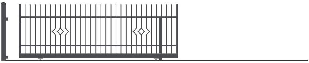 Brama przesuwna bez przeciwwagi LILA 400 x 152 cm prawa POLARGOS