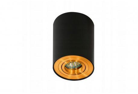 Plafon Bross 1 AZ2955 AZzardo pojedyncza oprawa w kolorze czarnym