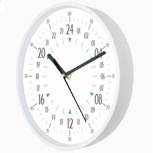 Biały 24-godzinny zegar ścienny Atrix ATE2015WH24C - biały