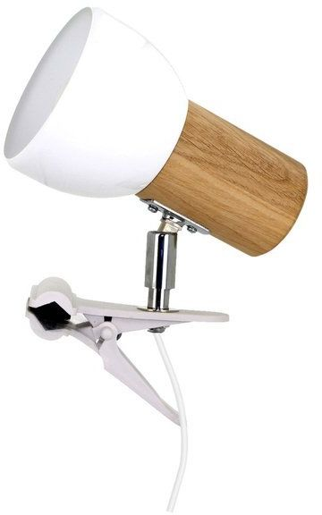 Lampa stołowa SVENDA CLIPS z drewna dębowego kolor dąb olejowany, 2224174WK