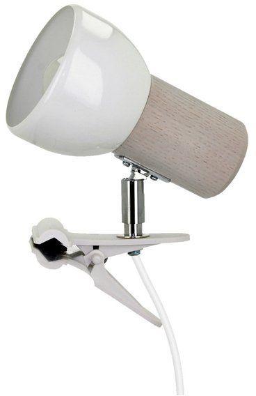 Lampa stołowa SVENDA CLIPS z drewna dębowego kolor dąb bielony, 2224132WK