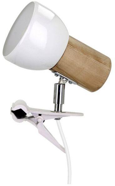 Lampa stołowa SVENDA CLIPS z drewna brzoza kolor brzoza, 2224160WK