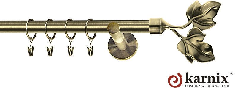 Karnisz nowoczesny NEO pojedynczy 16mm Eliza antyk mosiądz