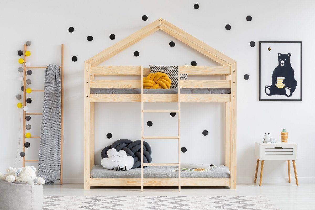 Łóżko MILA DMP 70x140 sosna piętrowe drewniane  KUP TERAZ - OTRZYMAJ RABAT