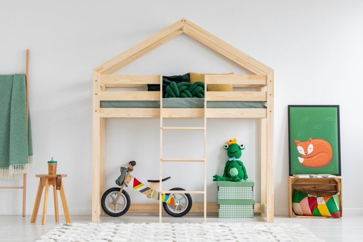 Łóżko dziecięce MILA DMPA 80x160 sosna piętrowe domek  KUP TERAZ - OTRZYMAJ RABAT
