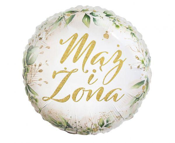 Balon foliowy na Ślub Mąż Żona wesele 36 cm 1 sztuka FG-OMIZ