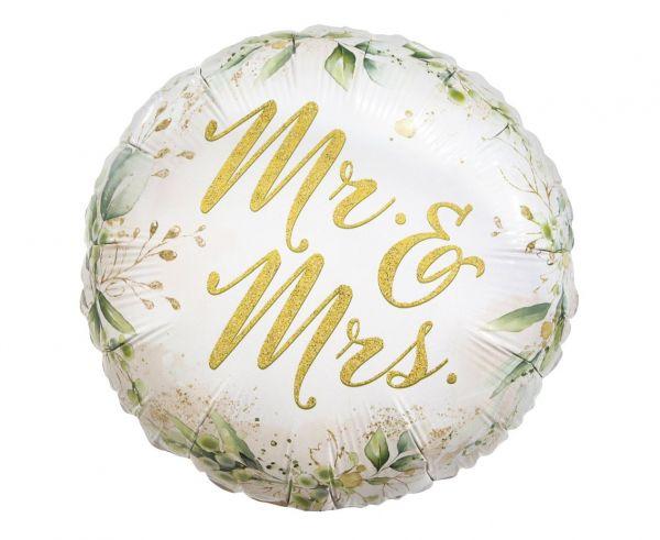 Balon foliowy na Ślub Mr and Mrs wesele 36 cm 1 sztuka FG-OMAM