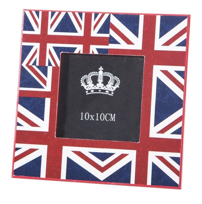 Ramka na zdjęcia 18x18x1 Lony 01 drewniana czerwona Flaga Brytyjska Eurofirany