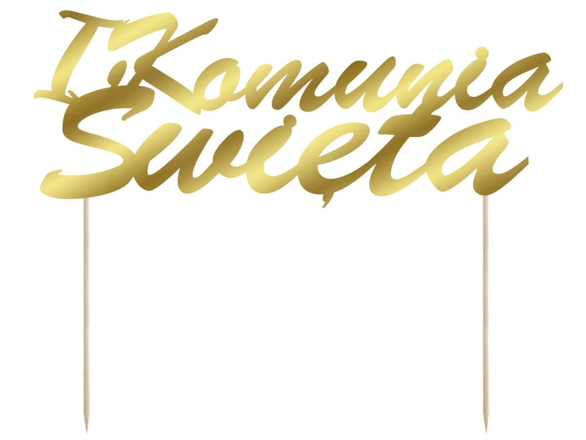 Topper na tort IHS I Komunia Święta - 1 szt.