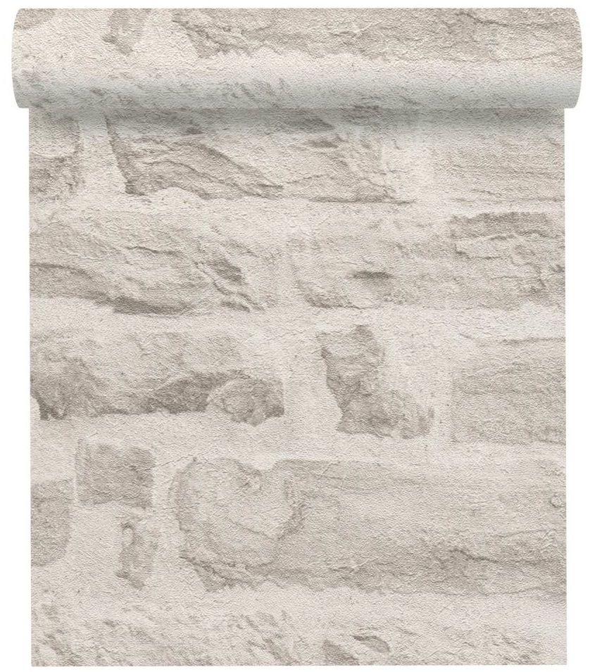 Tapeta 3D Cegła kremowa imitacja cegły winylowa na flizelinie