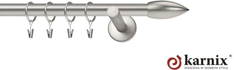 Karnisz nowoczesny NEO pojedynczy 16mm Świeca chrom mat