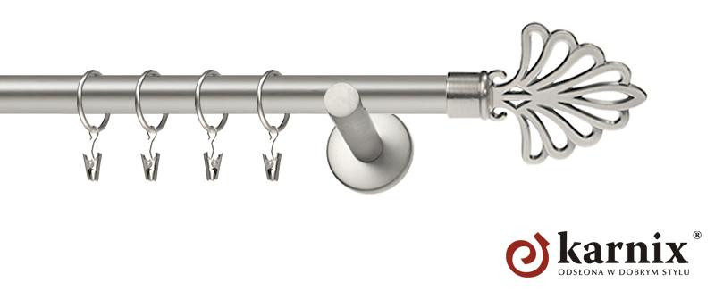 Karnisz nowoczesny NEO pojedynczy 16mm Wachlarz chrom mat