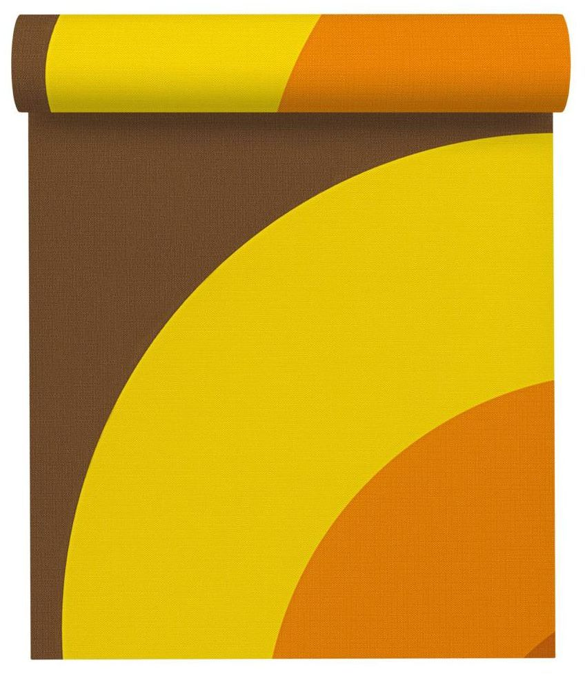 Tapeta Kręgi żółta winylowa na flizelinie
