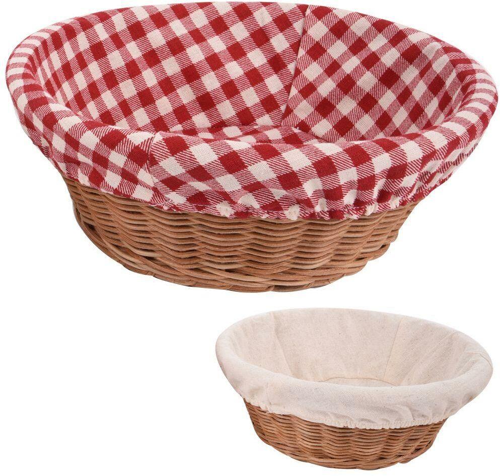 Koszyk rattan okrągły na pieczywo chleb 22 cm