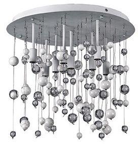 Plafon Neve PL8 Ideal Lux kryształowa oprawa w nowoczesnym stylu