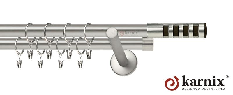Karnisz nowoczesny NEO podwójny 16/16mm Dakota chrom mat