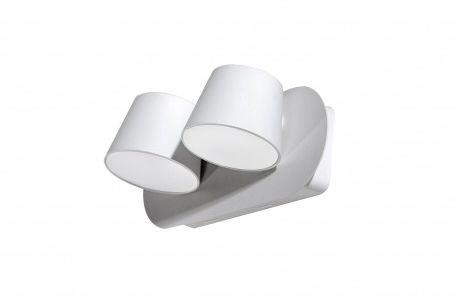 Kinkiet Ramona 2 Switch AZ2564 Azzardo podwójna oprawa w kolorze białym
