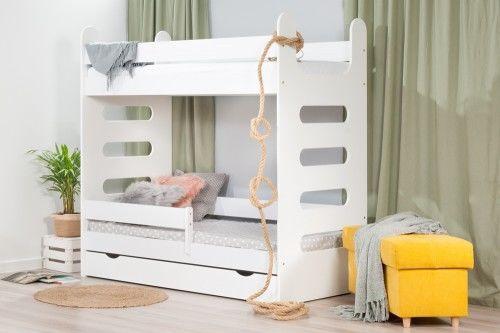 Łóżko 180x80cm High Crane piętrowe z szufladą kolor biały
