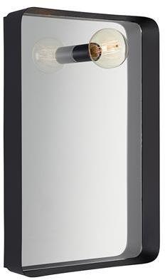 Lustro z kinkietem Image 107588 Markslojd nowoczesne lustro z wbudowanym kinkietem