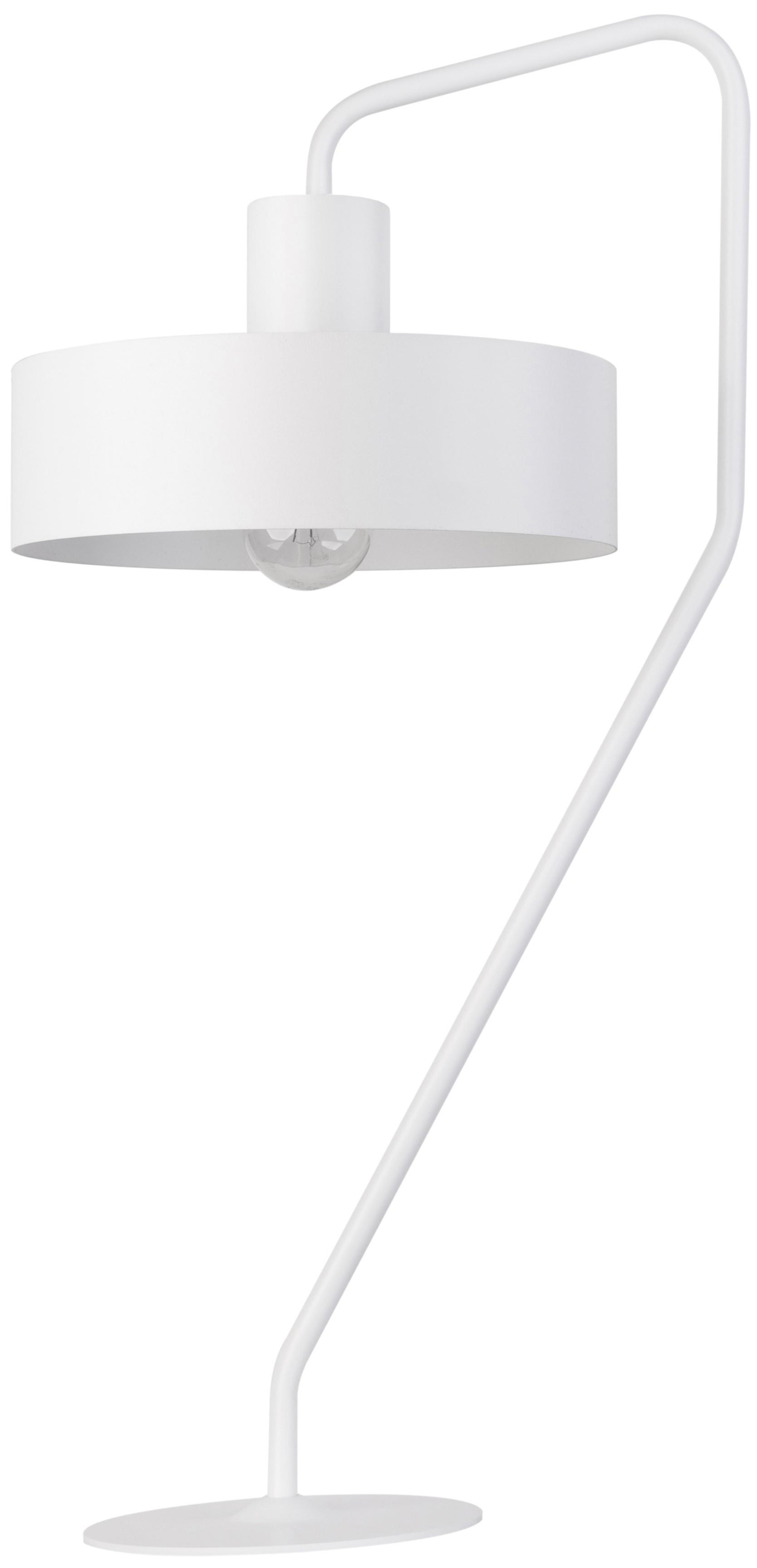 Lampka nowoczesna biała Jumbo metalowa okrągła 50109 - Sigma // Rabaty w koszyku i darmowa dostawa od 299zł !