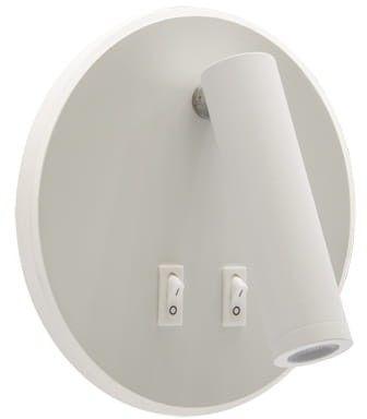 IDEUS IDEUS OTELLO LED C 6W+3W WHITE 3722 kinkiet na ścianę biały