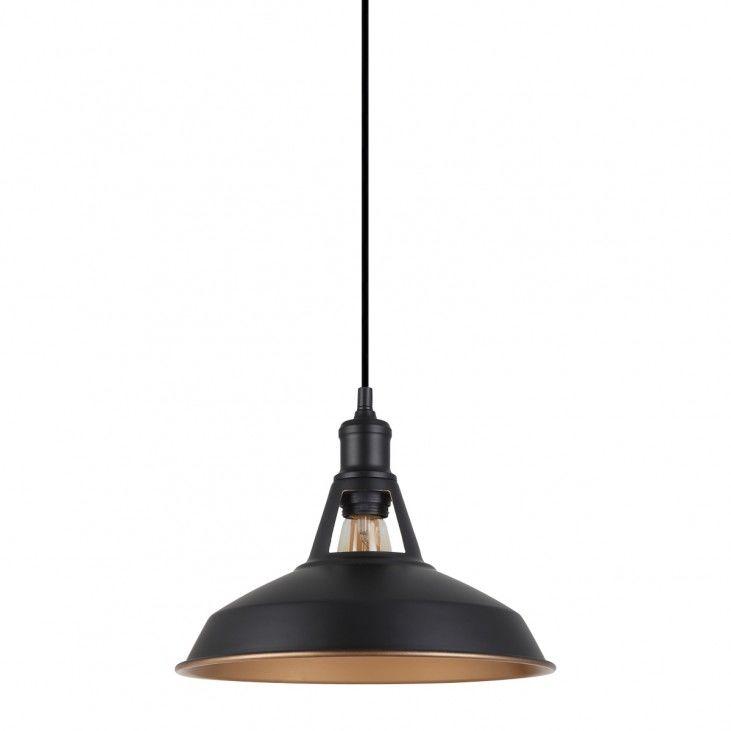 Lampa wisząca Freya MDM-2315/1 M BK+GD Italux czarna