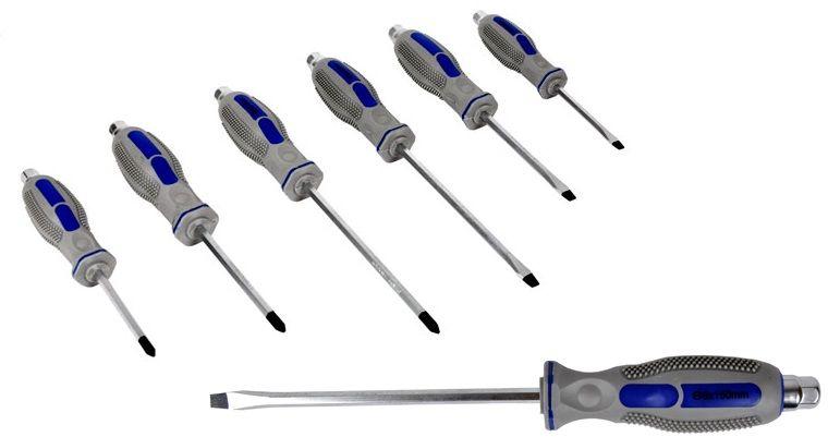 Zestaw wkrętaków 6el śrubokręty do pobijania
