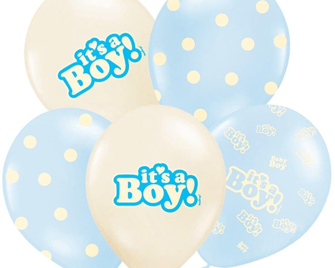 Balony pastelowe It''s a Boy - 30 cm - 6 szt.