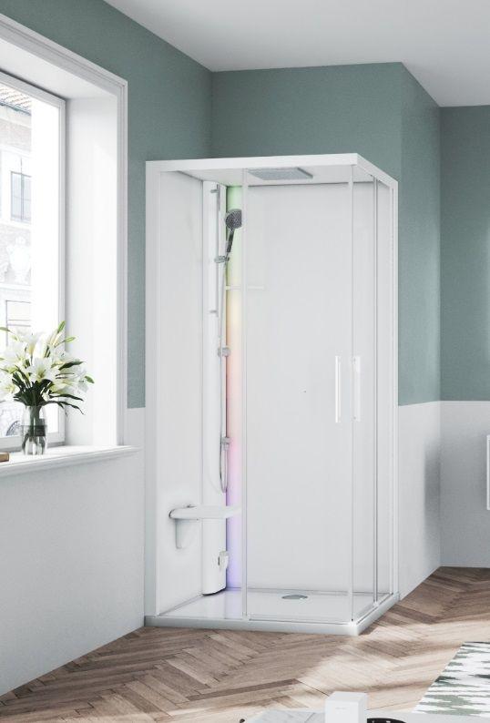 Novellini Glax 1 2.0 kabina z sauna parową 90x70 lewa biała G21A9079SM5-1UU