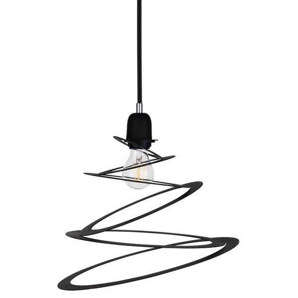Lampa wisząca KOMET spirala czarna 34,5cm