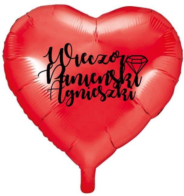 Balon foliowy Serce personalizowany na Wieczór Panieński - 45 cm - 1 szt.