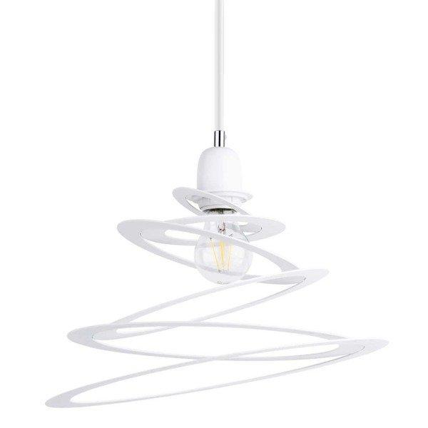 Lampa wisząca KOMET spirala biała 34,5cm