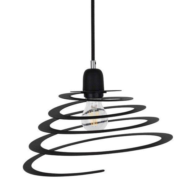 Lampa wisząca KOMET jak sprężyna czarna 34,5cm