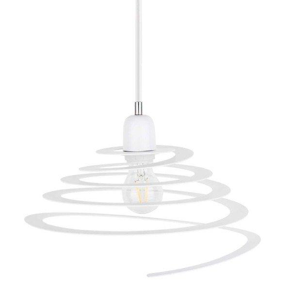 Lampa wisząca KOMET jak sprężyna biała 34,5cm
