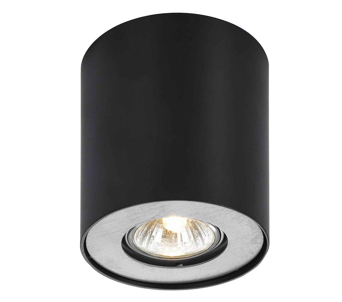 Oprawa natynkowa czarna okrągła tuba Shannon FH31431B-BL Italux