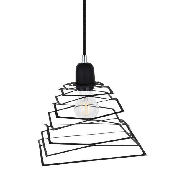 Lampa wisząca KOMET jak sprężyna czarna 24cm