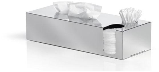 Pojemnik na chusteczki, patyczki i płatki kosmetyczne (stal błyszcząca) Nexio Blomus