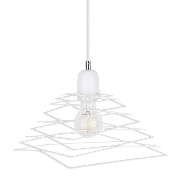 Lampa wisząca KOMET jak sprężyna biała 24cm