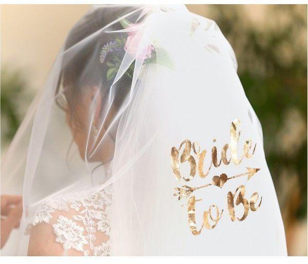Welon na Wieczór Panieński Bride to Be biały 1 sztuka RV-WBTB