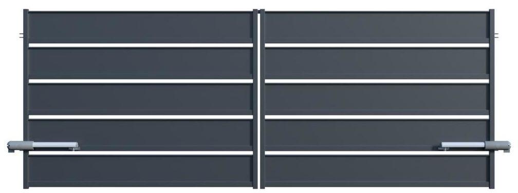 Brama dwuskrzydłowa z automatem OPAL 300 x 150 cm POLARGOS