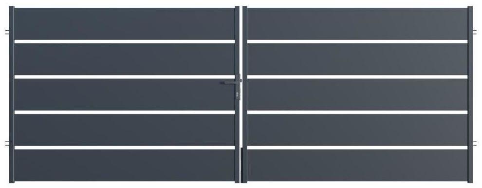Brama dwuskrzydłowa OPAL 400 x 150 cm POLARGOS