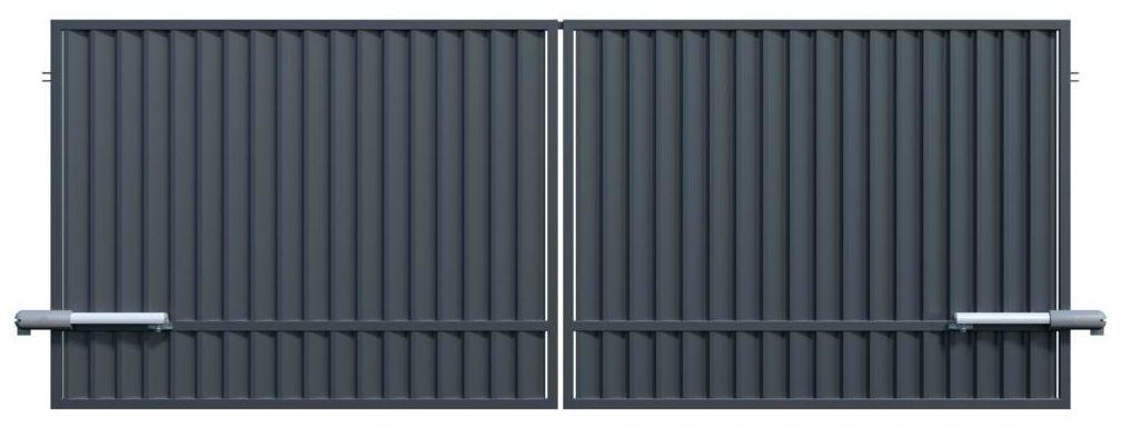 Brama dwuskrzydłowa z automatem TOPAZ 300 x 150 cm POLARGOS