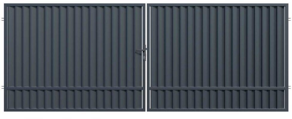 Brama dwuskrzydłowa TOPAZ 350 x 150 cm POLARGOS