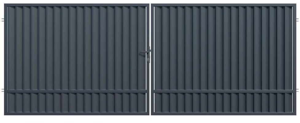Brama dwuskrzydłowa TOPAZ 400 x 150 cm POLARGOS
