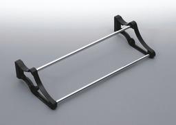 Stojak na obuwie E24 80-1100 metal/tworzywo chrom/czarny